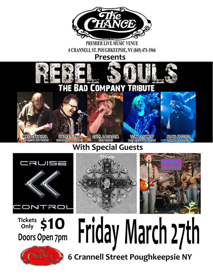Rebel Souls at The Chance Theater with Cruise Control, Trisain and Crispy Crunch